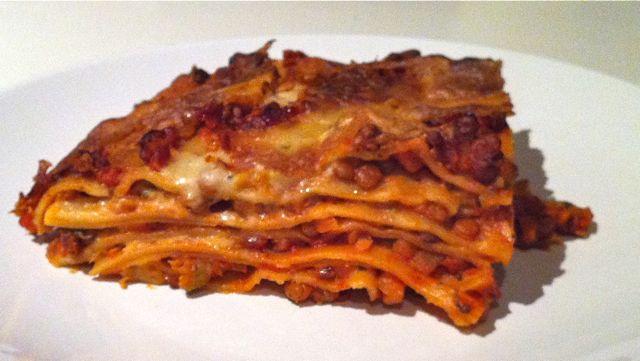 Gemüse-Linsen-Lasagne