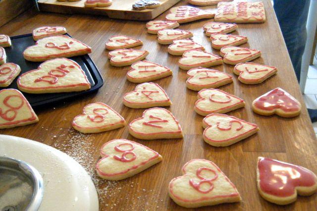Vanille-Kekse als Geburtstagskarte