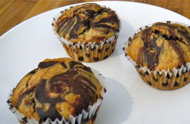 Marmor-Muffins mit perfekter Marmorierung