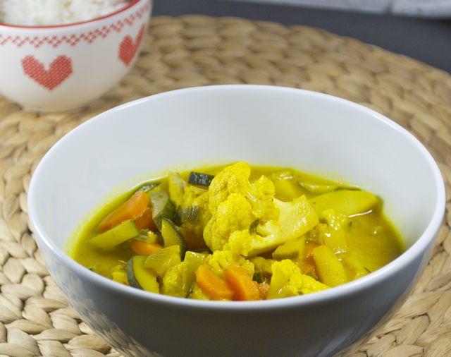 Blumenkohl-Gemüse-Curry