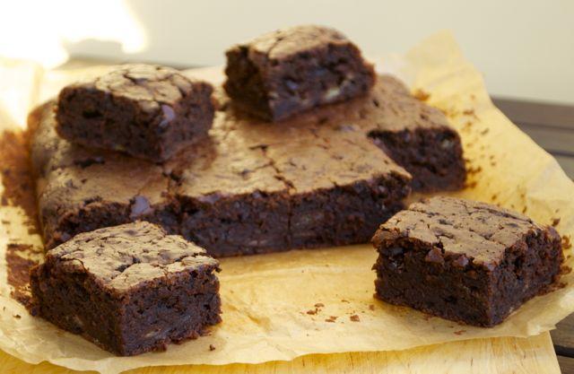 Saftige Schokoladen-Bananen-Brownies
