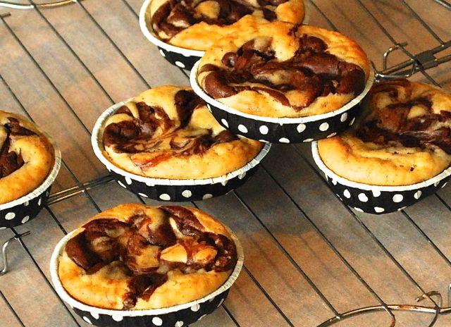 Schokoladen-Käsekuchen-Muffins